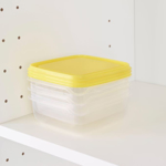 Picture of IKEA PRUTA Food Container, Transparent / Yellow 0.6L- 3Pack