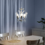Picture of IKEA KRISTALLER Chandelier, 3-armed, Silver-Colour,  Glass
