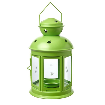 Picture of IKEA ROTERA Lantern for Tealight, in/outdoor, Green, 21 cm