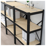 Picture of IKEA BROR Work Bench, Black, Pine Plywood, 110×55 cm