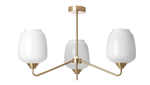 Picture of IKEA ÅTERSKEN Ceiling Lamp with 3 Lamps, Opal White Glass