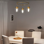 Picture of IKEA ÅTERSKEN Pendant Lamp with 3 Lamps, Clear Glass