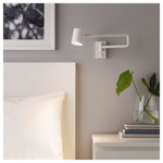 Picture of IKEA NYMÅNE Wall Lamp With Swing Arm, Wired-In, White