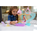 Picture of Barbie  Dreamtopia Mermaid Playground Playset, with Chelsea Mermaid Doll, Merbear Friend Figure and Sand Castle Set with Swing, Slide, Pool and Tea Party