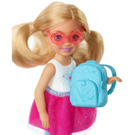 Picture of Chelsea Travel Doll, Blonde, with Puppy, Carrier & Accessories