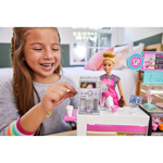 Picture of Barbie Coffee Shop with 12-in/30.40-cm Blonde Curvy Doll & 20+ Realistic Play Pieces