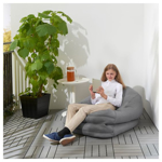 Picture of IKEA BUSSAN Beanbag, in/outdoor, Grey