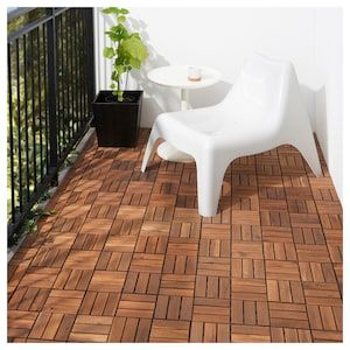 Picture of IKEA RUNNEN Decking, Outdoor, Brown Stained /m²