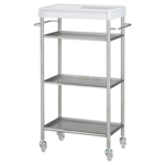 Picture of IKEA GRUNDTAL Trolley, Stainless Steel, 48x24x77 cm