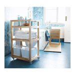 Picture of IKEA MOLGER Trolley, Birch, 33x47x76 cm