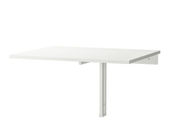 Picture of IKEA NORBERG Wall-Mounted Drop-Leaf Table, White, 74×60 cm