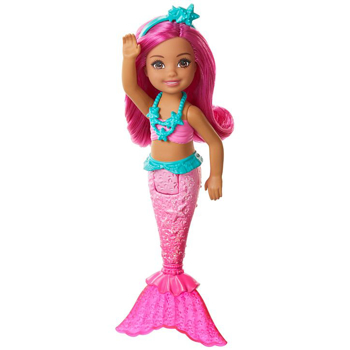 Picture of Barbie Dreamtopia Chelsea  Mermaid Doll, 6.5-inch with Pink Hair and Tail