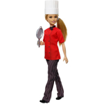 Picture of Barbie Chef Doll, Blonde Petite, Wearing Chef-Inspired Coat with Frying Pan