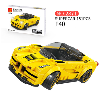 Picture of WANGE Supercar F40 Model Car Building Blocks Toys Cars