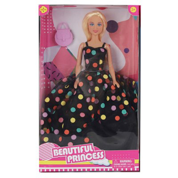 Picture of DOLL DEFA LUCY GIRL IN A DRESS WITH POLKA DOTS  (8452)