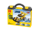 Picture of Wange 1401 Toys Building Blocks Electronic Power Machinery 4 in 1 Assembled Speed Car