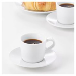 Picture of IKEA 365+ Espresso Cup and Saucer, White, 6 cl