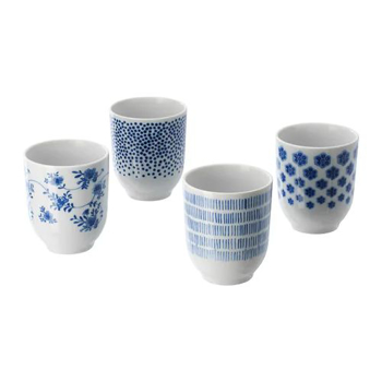 Picture of IKEA ENTUSIASM Mug, Patterned, Blue, 22 cl /4 pack