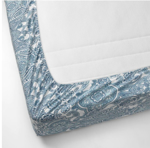 Picture of IKEA JÄTTEVALLMO Fitted Sheet - White/ Blue