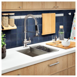 Picture of IKEA INSJÖN Kitchen Mixer Tap w Pull-Out Spout, Chrome-Plated