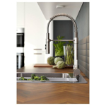 Picture of IKEA VIMMERN Kitchen Mixer Tap/ Handspray, Stainless Steel Colour
