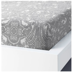 Picture of IKEA JÄTTEVALLMO Fitted Sheet - White/ Grey