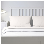 Picture of IKEA PUDERVIVA Fitted Sheet, 180×200 cm- White