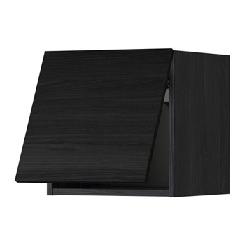 Picture of IKEA METOD Wall Cabinet Horizontal, Black, Tingsryd Black, 40×40 cm
