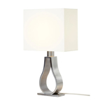 Picture of IKEA KLABB Table Lamp, Off-White, Nickel-Plated, 44 cm