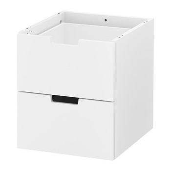 Picture of IKEA NORDLI Modular Chest of 2 Drawers , White, 40×45 cm