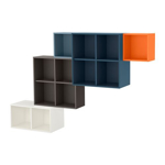 Picture of IKEA EKET Wall-Mounted Cabinet Combination, Multicolour 1, 175x35x210 cm