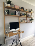 Picture of IKEA SVALNÄS Wall-Mounted Storage Combination, Bamboo, 86x35x176 cm