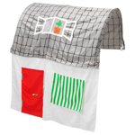 Picture of IKEA KURA Bed Tent with Curtain, Grey/ White