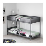Picture of IKEA TUFFING Bunk Bed Frame, Dark Grey, 90×200 cm