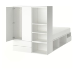 Picture of IKEA PLATSA Bed Frame with 4 Doors+6 Drawers, White, Fonnes Ridabu, 140x200x223cm