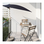 Picture of IKEA TÄRNÖ Table+2 Chairs, outdoor, Black/Grey-Brown Stained Black-Brown Stained, Kuddarna Beige