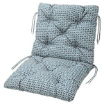 Picture of IKEA YTTERÖN Seat/back Cushion, Outdoor, Blue, 92×50 cm