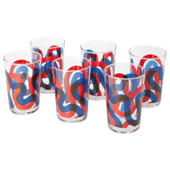 Picture of IKEA FRAMKALLA Glass, Patterned, 30 cl 6 pack