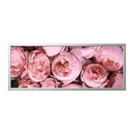 Picture of IKEA BJÖRKSTA Picture with Frame, Pink Peony, Aluminium-Colour, 140×56 cm