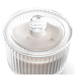 Picture of IKEA BLOMDOFT Scented Candle in Glass, 2 wicks, Gladiolus, Grey, 11 cm