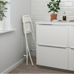 Picture of IKEA FRANKLIN Bar Stool with Backrest, Foldable, , 63 cm