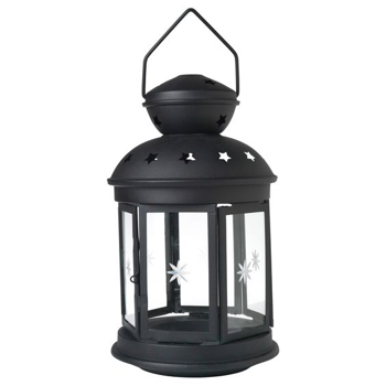 Picture of IKEA ROTERA Lantern for Tealight, in/outdoor Black, 21 cm