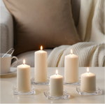 Picture of IKEA FENOMEN Unscented Block Candle, set of 5, Natural