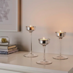 Picture of IKEA BLOMSTER Candle Holder, set of 3, Clear Glass