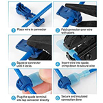 Picture of TICONN 200pcs T-Tap Wire Connectors, Insulated Male Quick Disconnect Spade Terminals Assortment Kit with Storage Case