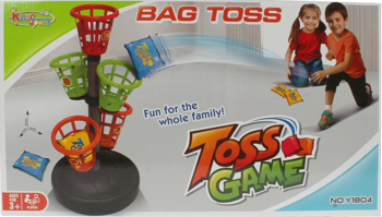 Picture of Bag Toss Game for Kids 5 Basket Toss 6 PCS Bean Bag & Stickers