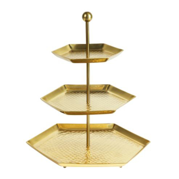 Picture of IKEA LJUVARE Serving Stand Three Tiers Gold Colour