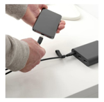 Picture of IKEA LILLHULT USB Type C to USB C Cord Dark Grey 1.5 m