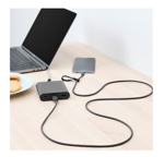 Picture of IKEA LILLHULT USB Type A To Micro USB Dark Grey 1.5 m