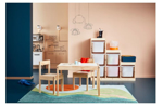Picture of IKEA LÄTT Childrens Table With 2 Chairs White/Pine